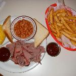 Brisket plate with a side of fries.  We shared it.