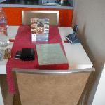 breakfast table in room