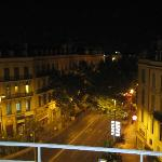 Picture of city street from hotel balcony