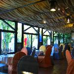 Cafetería con vistas a la Laguna San Pedra