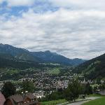 The beautiful village of Schladming, as seen from the Planai mountain