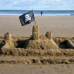 A silly sandcastle we built on the beach