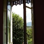 view from window in the pink room