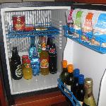 Well equipped minibar