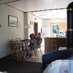 Cottage 1 - Living Room towards Kitchen
