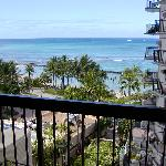 Looking out on the lanai