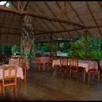 La veranda dove si consuma l'ottima prima colazione