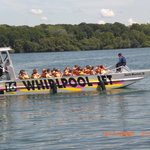 the opened jet boat