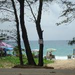 karon beach opposite the hotel