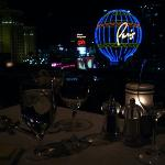 view of the strip from our table