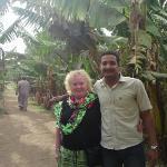 Joan and Mahmoud in Banana Island (West Bank)