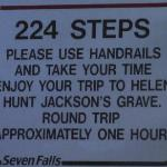 I counted, there really were 224 steps.........and I hung on to the handrails the whole way! I f
