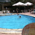 pool and the outdoor bar