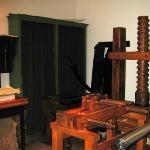 Franklin-Bache's printing press.