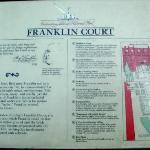 Franklin Court marker.