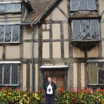 The house Shakespeare was born in, Stratford-on-Avon, England.