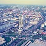 BMW headquarters. View from Munisch TV tower.