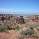 The Colorado National Monument. Where Nature did some sculpting. Just to makes us wonder how.