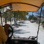 Al Hotelito Casa las Tortugas con il taxi carritos