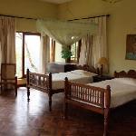Eines der bezaubernden Gästezimmer