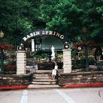 Lovely park area with stage for performers, downtown Eureka Springs