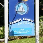 The Visitor Center sign.