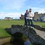 primer dia en escocia, St. Andrews, el lugar de nacimiento del golf, este peaso campo, es gratui