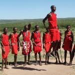 In the Masai Village