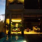 Villa at night (partial view)