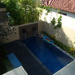View from upstairs balcony/terrace
