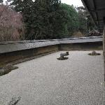 The infamous rocks of the the Ryoanji Garden