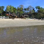Beach in front of PJ restaurant