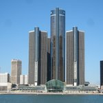 World Headquarters of General Motors in Detroit, Michigan.