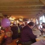 24.1.2009 - Zakopane, Poľsko. Interiér tradičnej goralskej reštaurácie.
