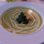 Soup & Scallop starter