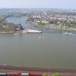 "The ""Deutsches Eck"" :) from the fortress of Ehrenbreitstein"