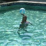 Me in the pool shooting basketball