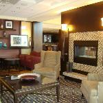 Hampton Inn - Lobby Fireplace