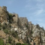 St. Hilarion Castle was built on one of the highest points of mountains, again, as protection fr