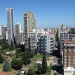 Rosario y el Río Paraná desde la torre del Monumento a la Bandera, Rosario. Argentina.