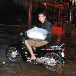 Owner Ben makes rainy nite delivery
