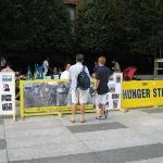 14th day of a hunger strike against Ahmadinajad (sp?).  This is protest central, but there were
