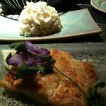 Baked Parmesan halibut