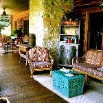 gracious and spacious porch