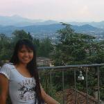 Bergamo view slightly blocked by my wife
