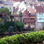 Houses along the Creuse from the room