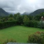 View of the garden and Ben Nevis