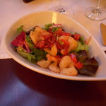 Starter: shrimp salad
