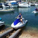 Jet skis can be hired from the bar near Lina Apartments