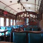 detalle de los asientos del vagon verde